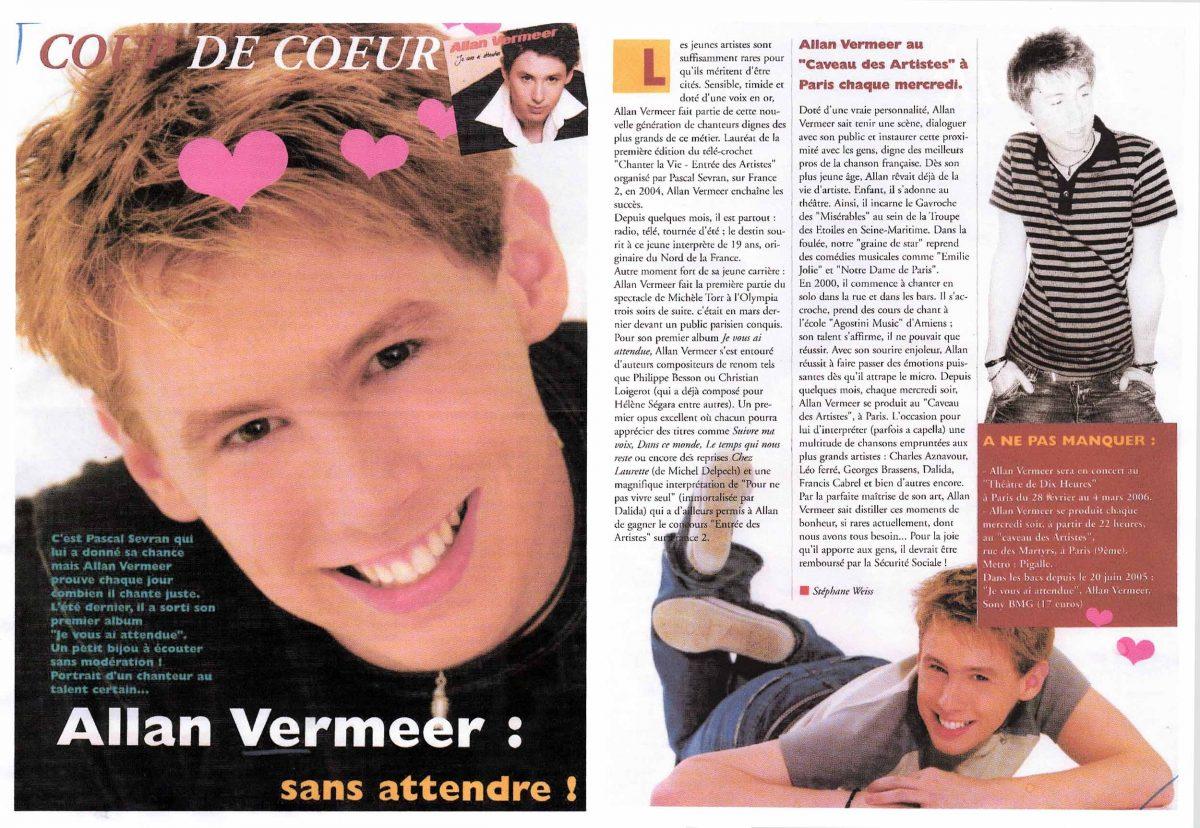 Allan Vermeer : Sans attendre !