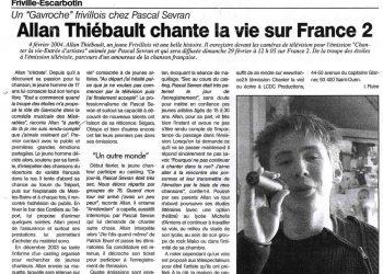 Allan Vermeer chante la vie sur France 2