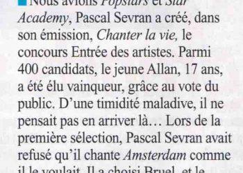 Allan Vermeer, le petit protégé de Pascal Sevran