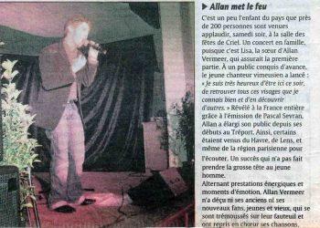 Allan Vermeer met le feu (Paris Normandie)