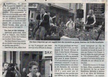 Allan Vermeer, un CD, la télé et le bac...