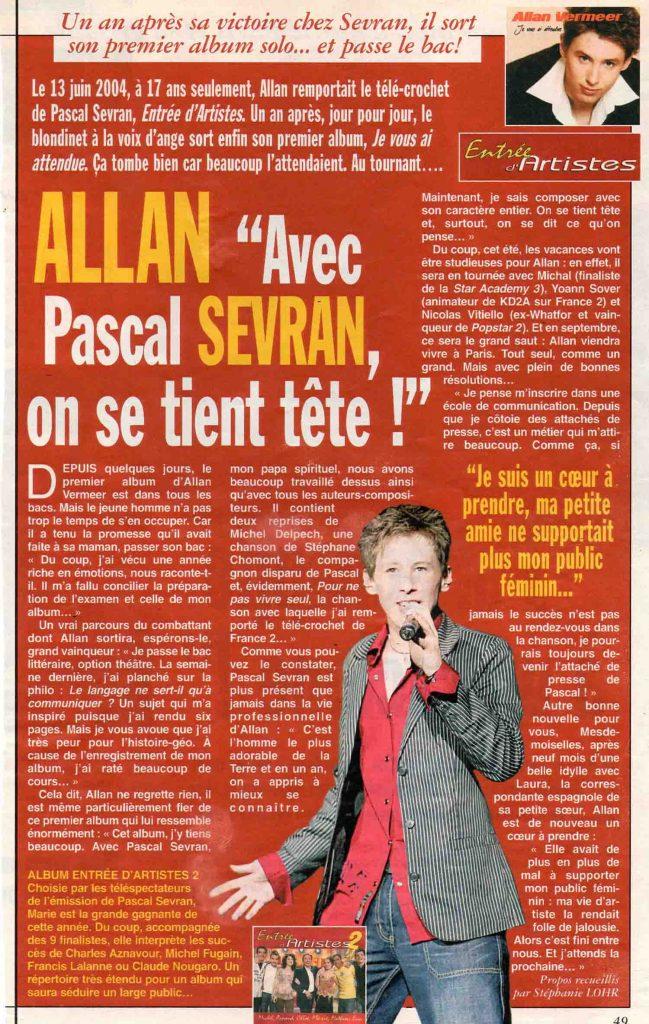Allan Vermeer : Avec Pascal Sevran on se tient tête !