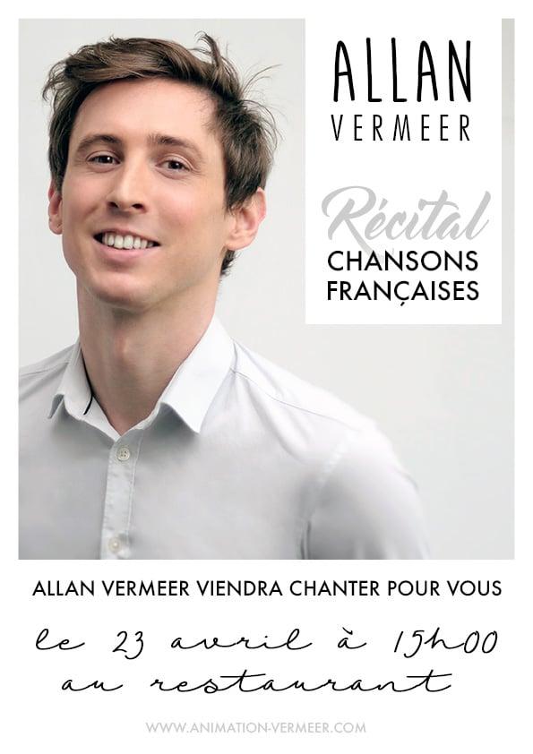 Affiche animation chanson française