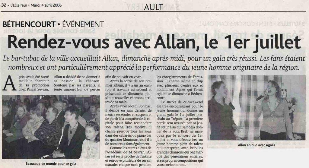 Rendez-vous avec Allan Vermeer , le 1er juillet